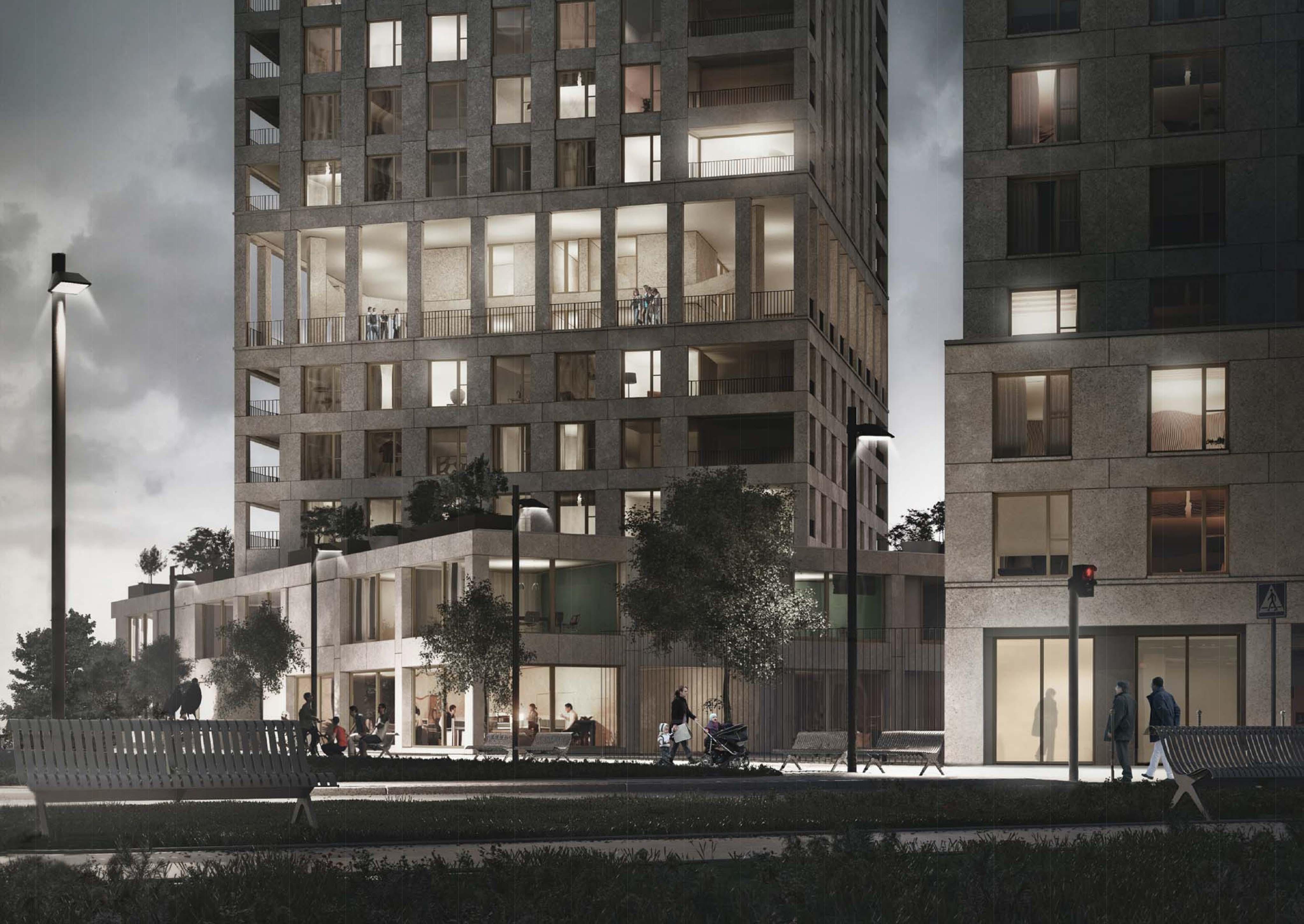265 logements et soho paris chapelle international atelier martel. Black Bedroom Furniture Sets. Home Design Ideas